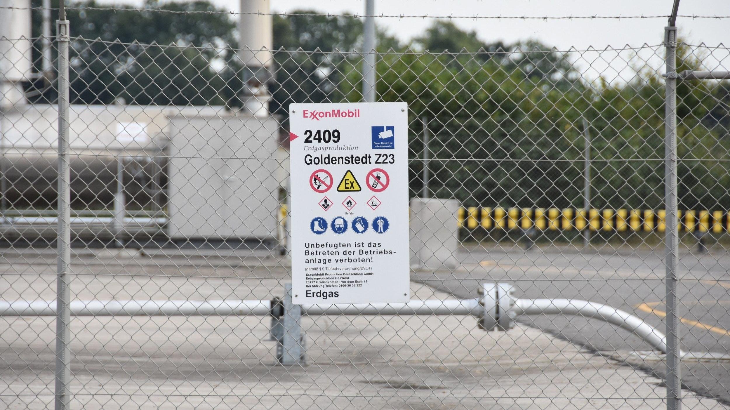 """Höhere Sicherheitsstandards: Sie gelten nun auch für die Erdgasförderung von Exxon an der Bohrstelle """"Goldenstedt Z23"""" in Vechta-Holzhausen. Den Grünen reicht das nicht. Archivfoto: Tzimurtas"""