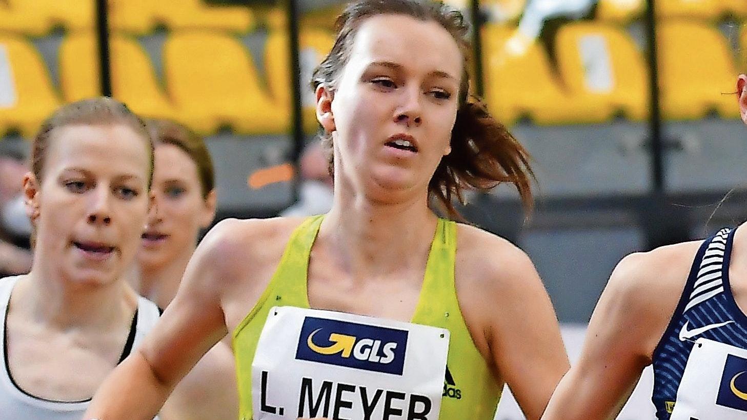 Aus im Vorlauf: Die Löningerin Lea Meyer musste ihre Hoffnungen auf das Finale über 3000 Meter bei der Hallen-EM begraben. Foto: Benjamin Heller