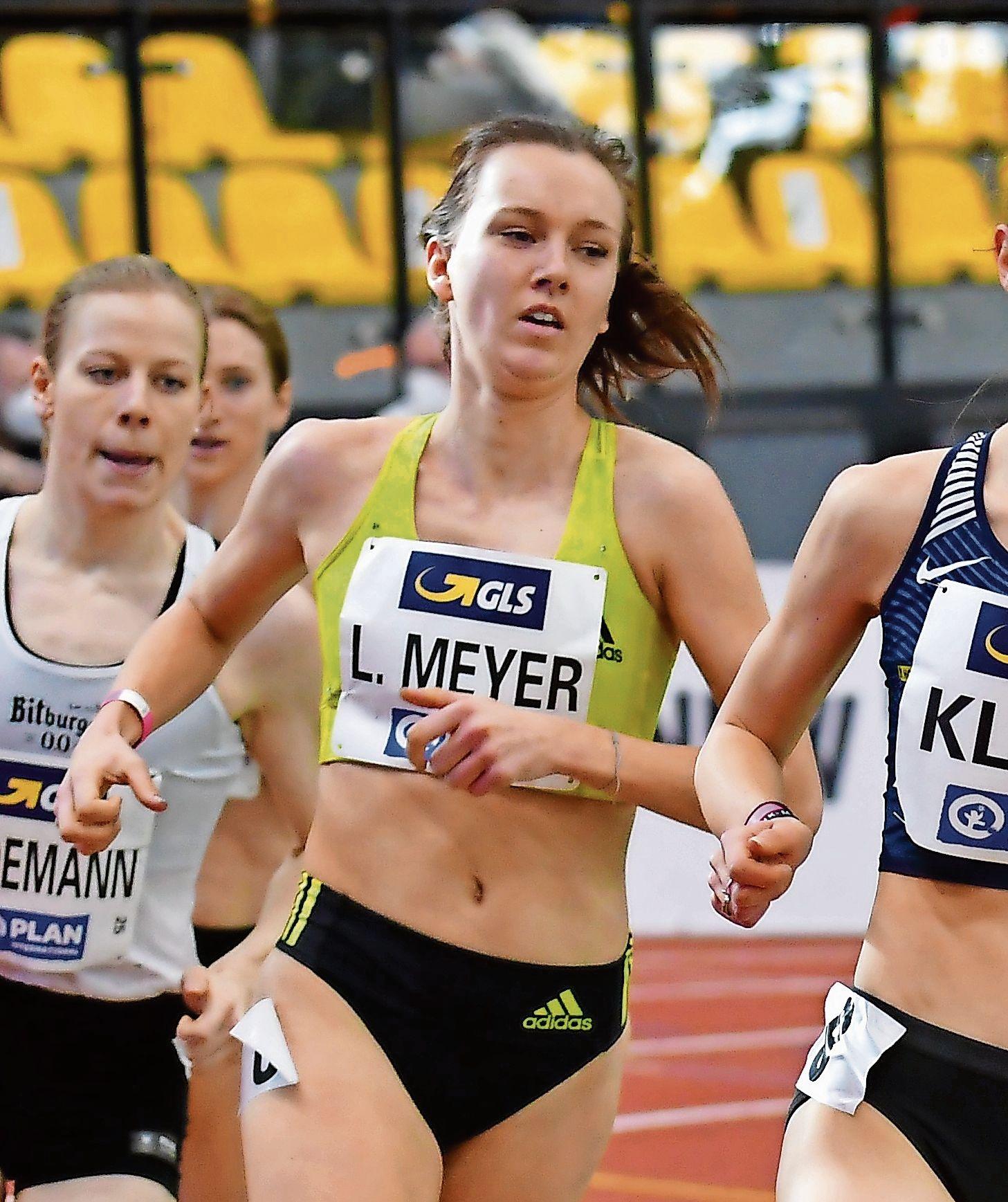 Hat noch viel vor: Lea Meyer konzentriert sich nach dem Start bei der Hallen-Europameisterschaft auf eine Sommersaison mit einigen Höhepunkten. Foto: Benjamin Heller