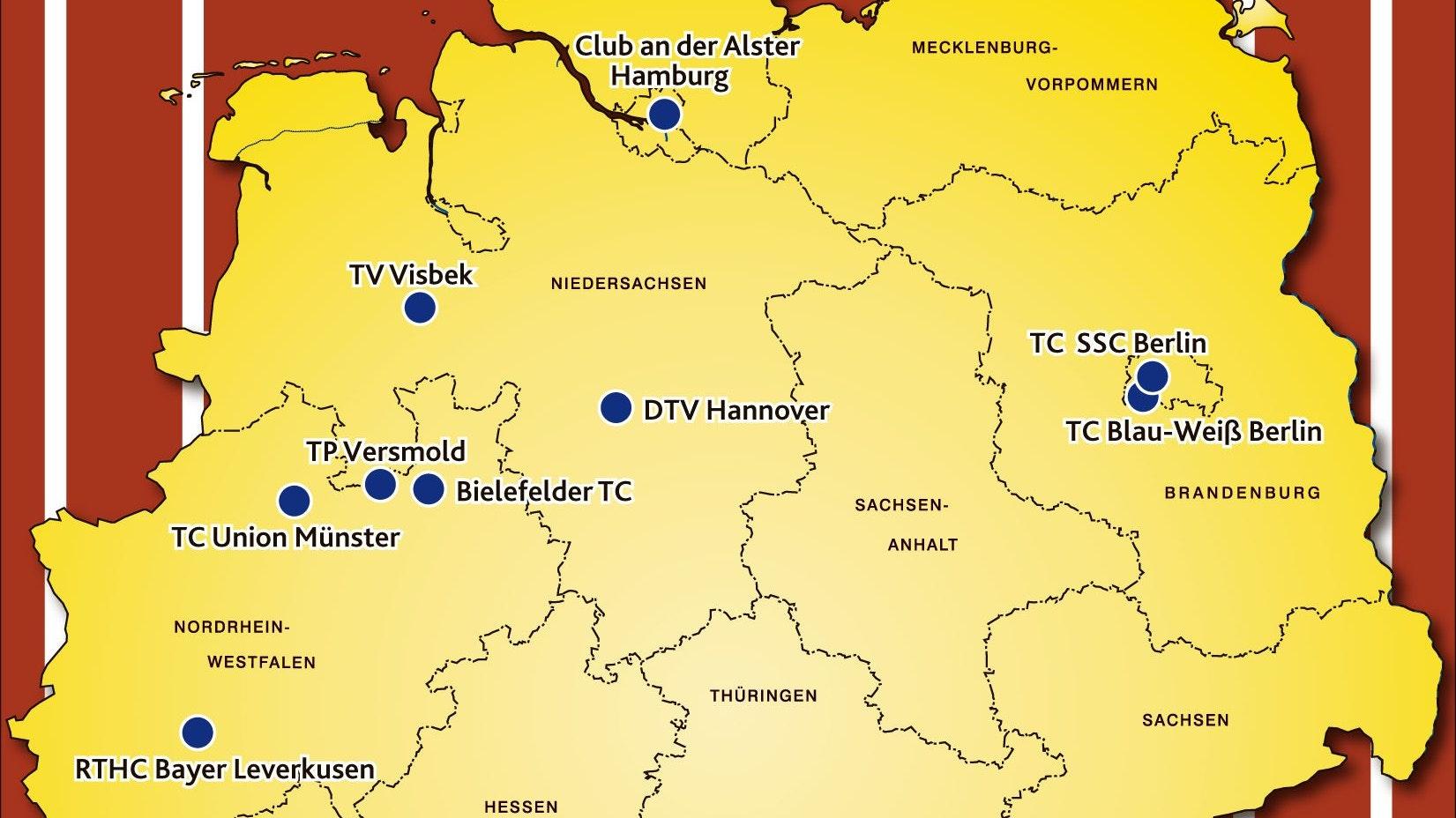 Neun Teams in der 2. Liga Nord: Der TV Visbek und Versmold sind die Aufsteiger. Grafik; von der Heide