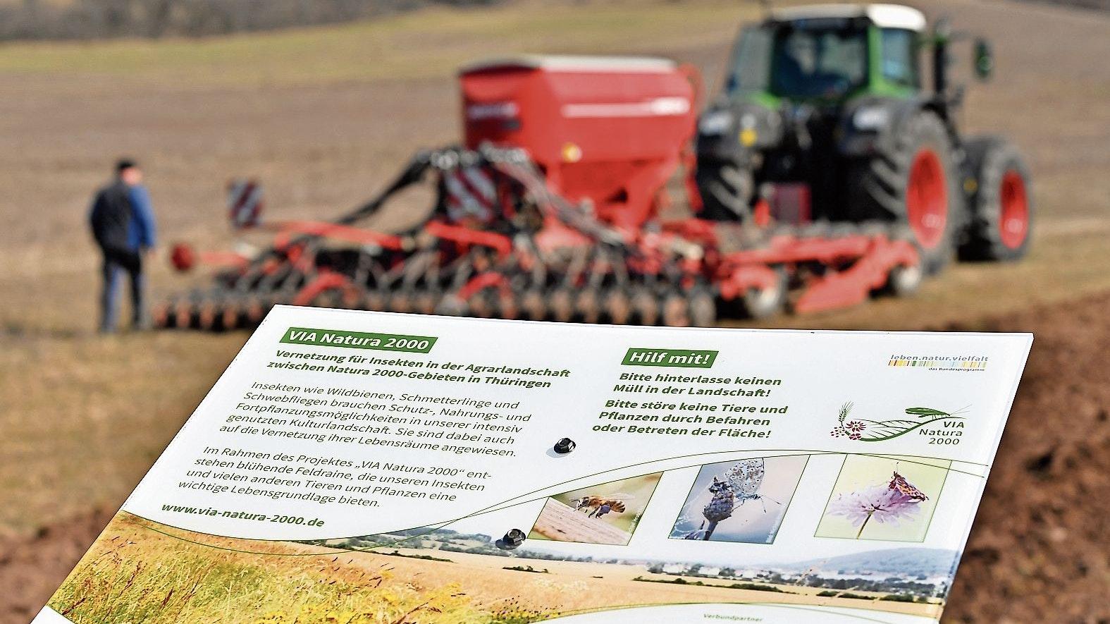 Im Dienst an der Natur: Landwirte legen in jedem Frühjahr hektarweise Blühstreifen an. Foto: dpa