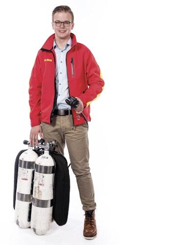 Als Rettungstaucher aktiv: Marten Herzog. Foto: DLRG