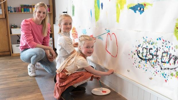 Kreativwerkstatt: Einfach mal Farbe an die Wand werfen