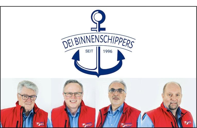 Der Vorstand des Shantychores Dei Binnenschippers Lohne. Fotocollage: Wöhrmann.
