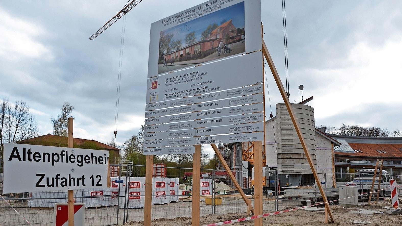 Das St.-Elisabeth-Stift arbeitet derzeit am Anbau, um mehr Platz zu gewinnen.  Foto: Meyer