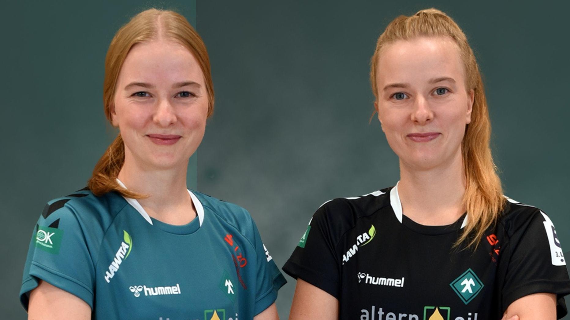 Seit 2015 im SFN-Trikot: Jane (links) und Nele Müller. Fotos: Müller
