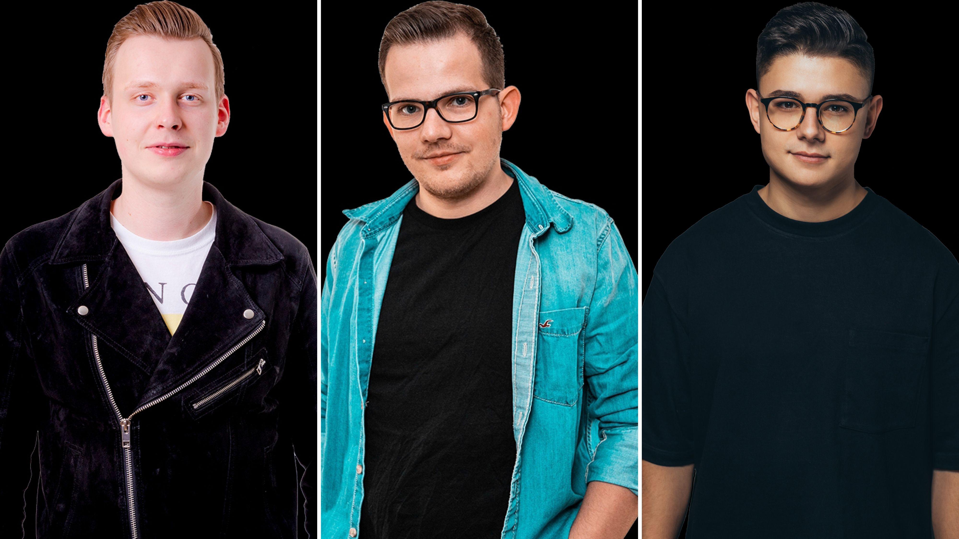 Drei von 5 DJs beim Online-Festival: (von links) Niklas Quebbemann, Marco Lamping und Daniel Hein sind für die Stadtstreicher am Samstag (1. Mai) am Start. Fotomontage: Stadtstreicher/von Hammerstein