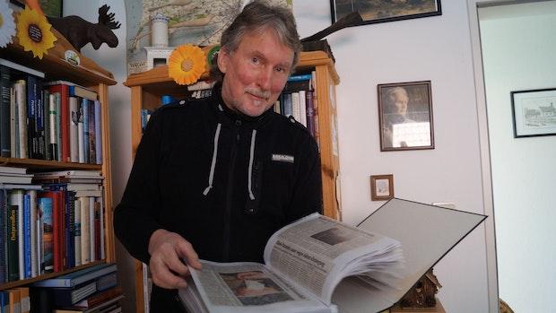 Manfred Schlömer pflegt seinen eigenen Naturschutz-Pressespiegel