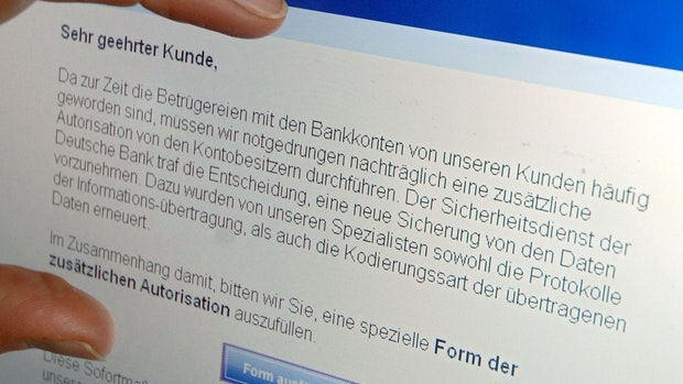 Vorsicht: Phishing-Mails mit Volksbank-Logo fordern zur Kontoüberprüfung auf