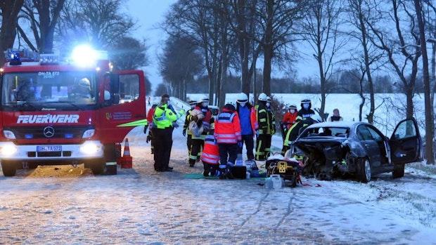 Schneeglätte: 2 Unfälle bei Drebber und Barver