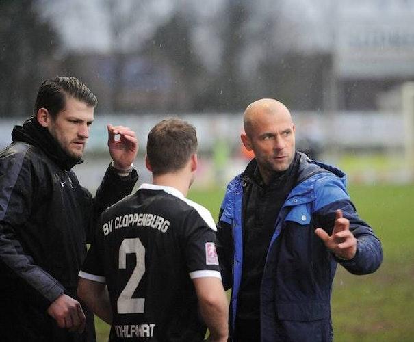 Knapp zwei Jahre BVC: Steffen Bury (rechts) trainierte die Mannschaft in der Regionalliga und in der Oberliga. Foto: Archiv