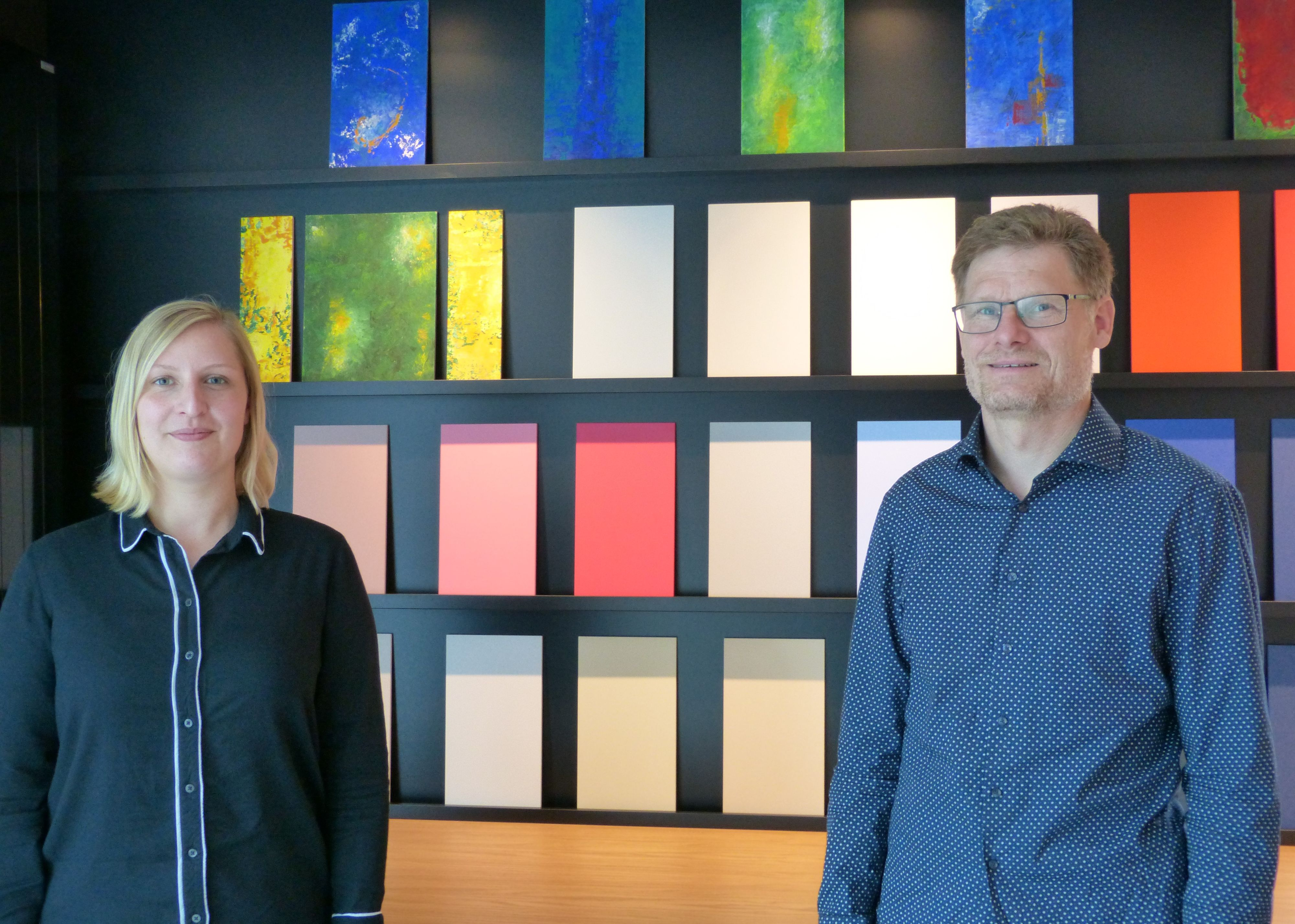 Obermeister mit Stellvertreterin:Friederike Mönnig und Klaus Tapken. Foto: Mönnig
