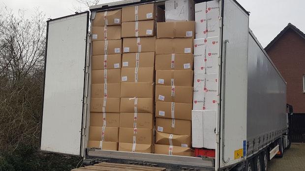 Hilfstransport der Malteser kommt in Belarus an