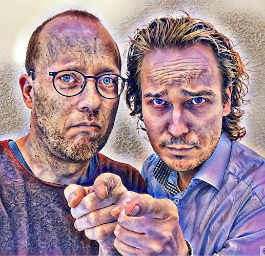 Wortgewandtes Duo: Benedikt Feldhaus (rechts) und Peter Havers wollen das Publikum mit Poetry-Slam fesseln. Foto: FeldhausHavers