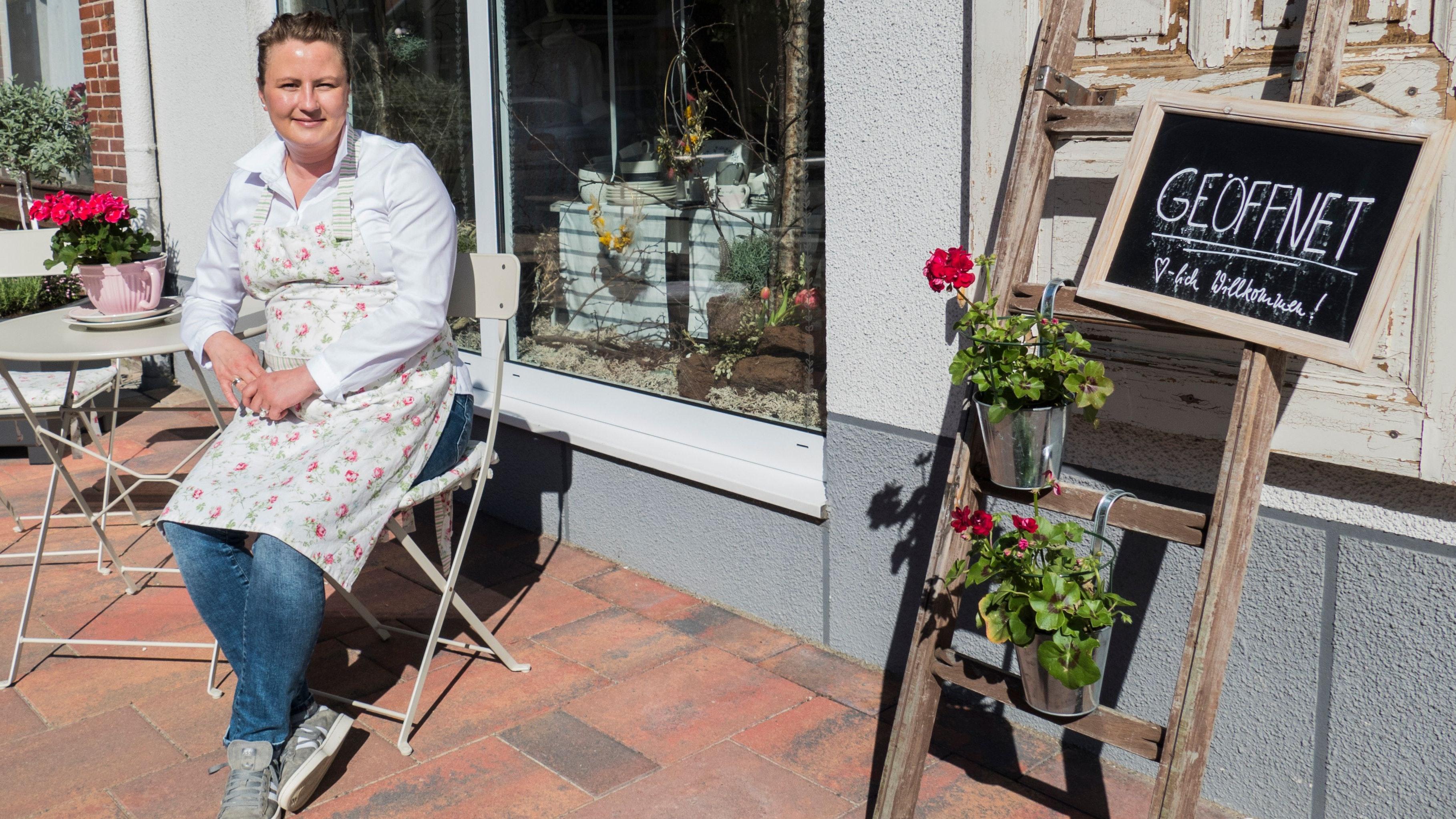 Endlich wieder geöffnet: Anika Lindner hat mit ihrem Laden den Lockdown mit zwei blauen Augen überstanden. Foto: Stix