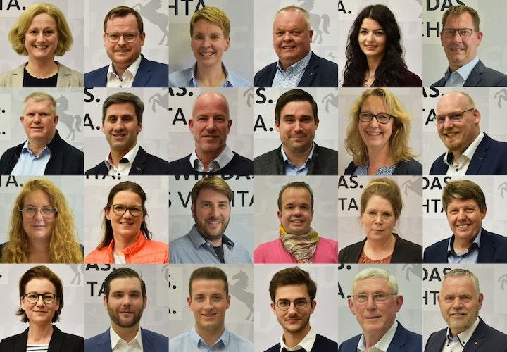 Mit diesen 22 Kandidatinnen und Kandidaten tritt die CDU Vechta bei der Kommunalwahl im September für den Stadtrat an. Unten rechts finden sich zusätzlich zwei der Kandidaten für den Kreistag, Josef Kläne und Dirk Lübbe. Fotocollage: CDU-Stadtverband Vechta