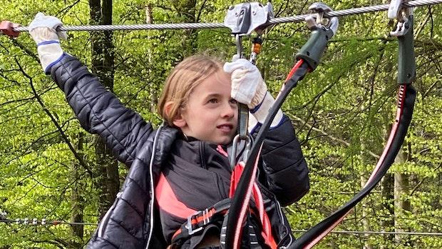 Kletterfans oben auf: Thülsfelder Park ist wieder geöffnet
