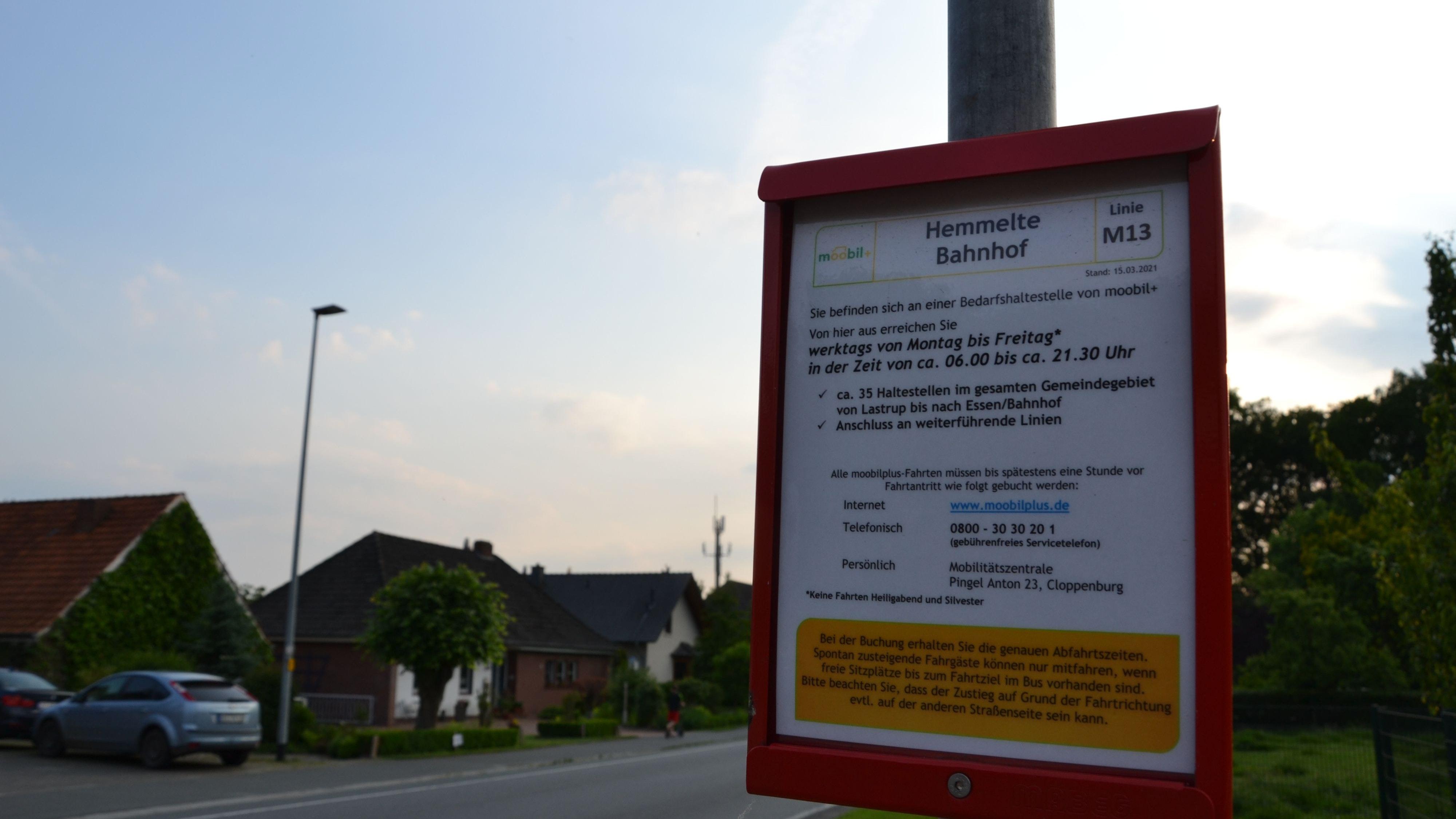 Selten genutzt: Die Auslastung des Rufbusses in der Gemeinde Lastrup lässt bislang zu Wünschen übrig. Foto: Meyer