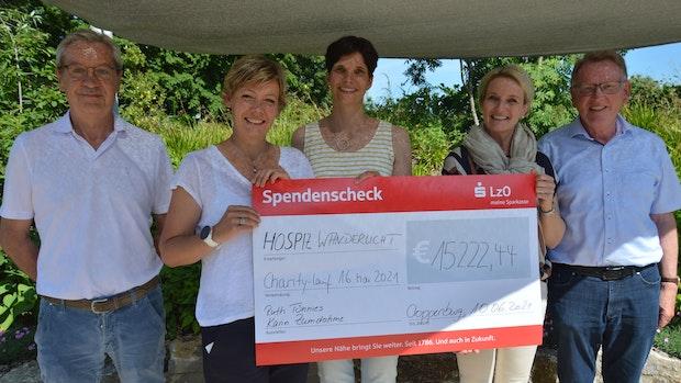 Spendenmarathon für Hospiz bringt15.000 Euro ein