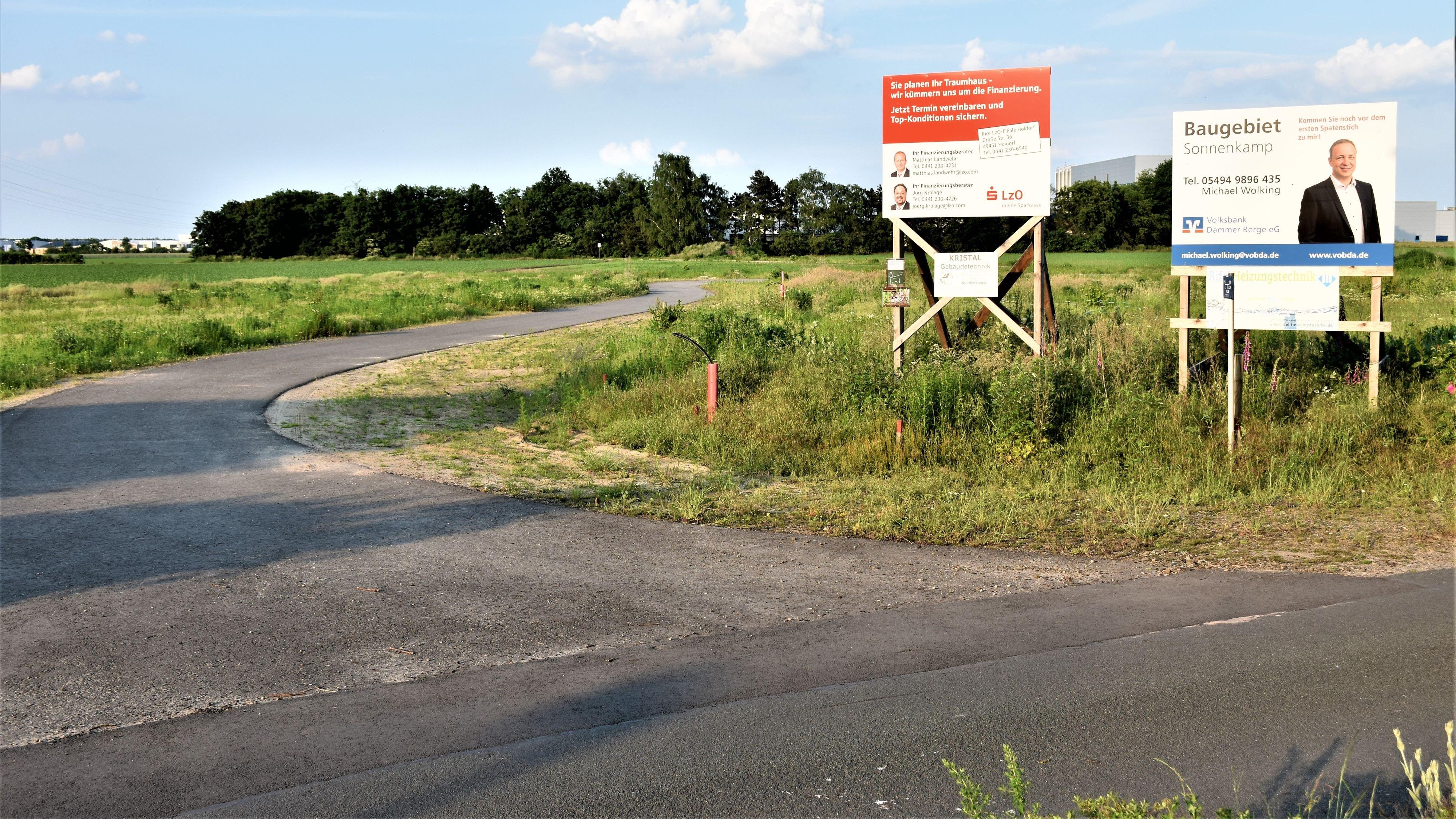 Im Sonnenkamp in Holdorf entsteht ein neues Wohngebiet. Foto: Böckmann