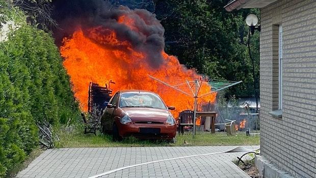 Gartenhütte in Lohne geht komplett in Flammen auf
