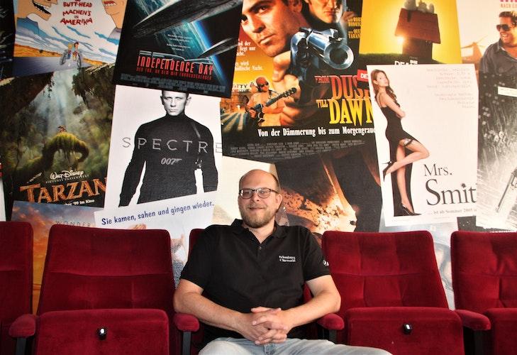 Gunnar Schäfer freut sich bereits auf die Kino-Besucher in der Schauburg Cineworld Vechta. Foto: E. Wenzel