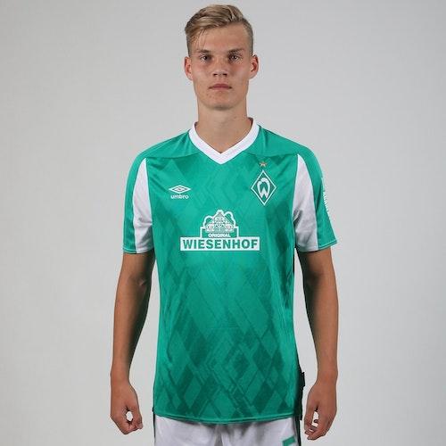 Er trägt weiter Grün-Weiß: Mathis Richter spielt jetzt in Werders U19. Foto: Werder Bremen
