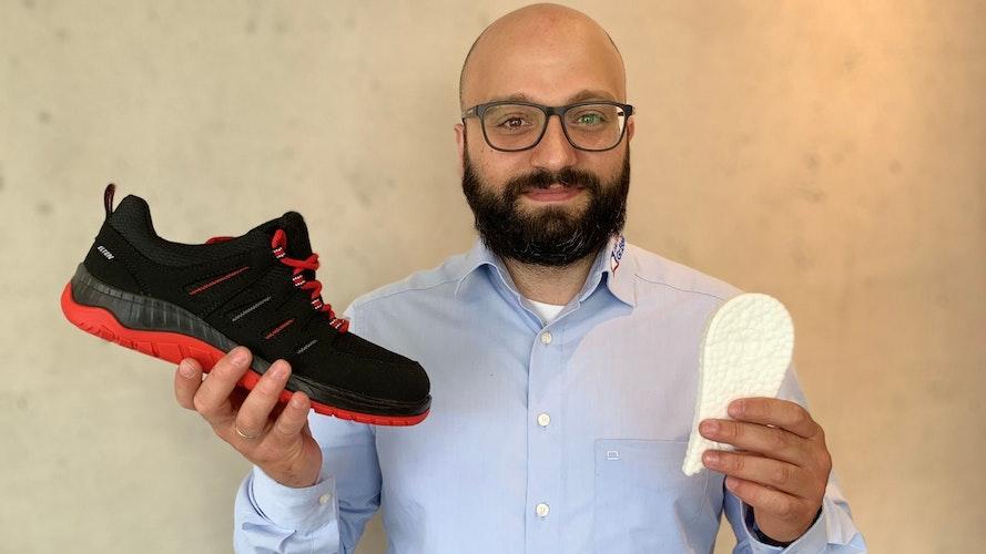 Rami Harb ist begeistert vom Tragekomfort der Wellmax-Modelle. Foto: Gr. Beilage
