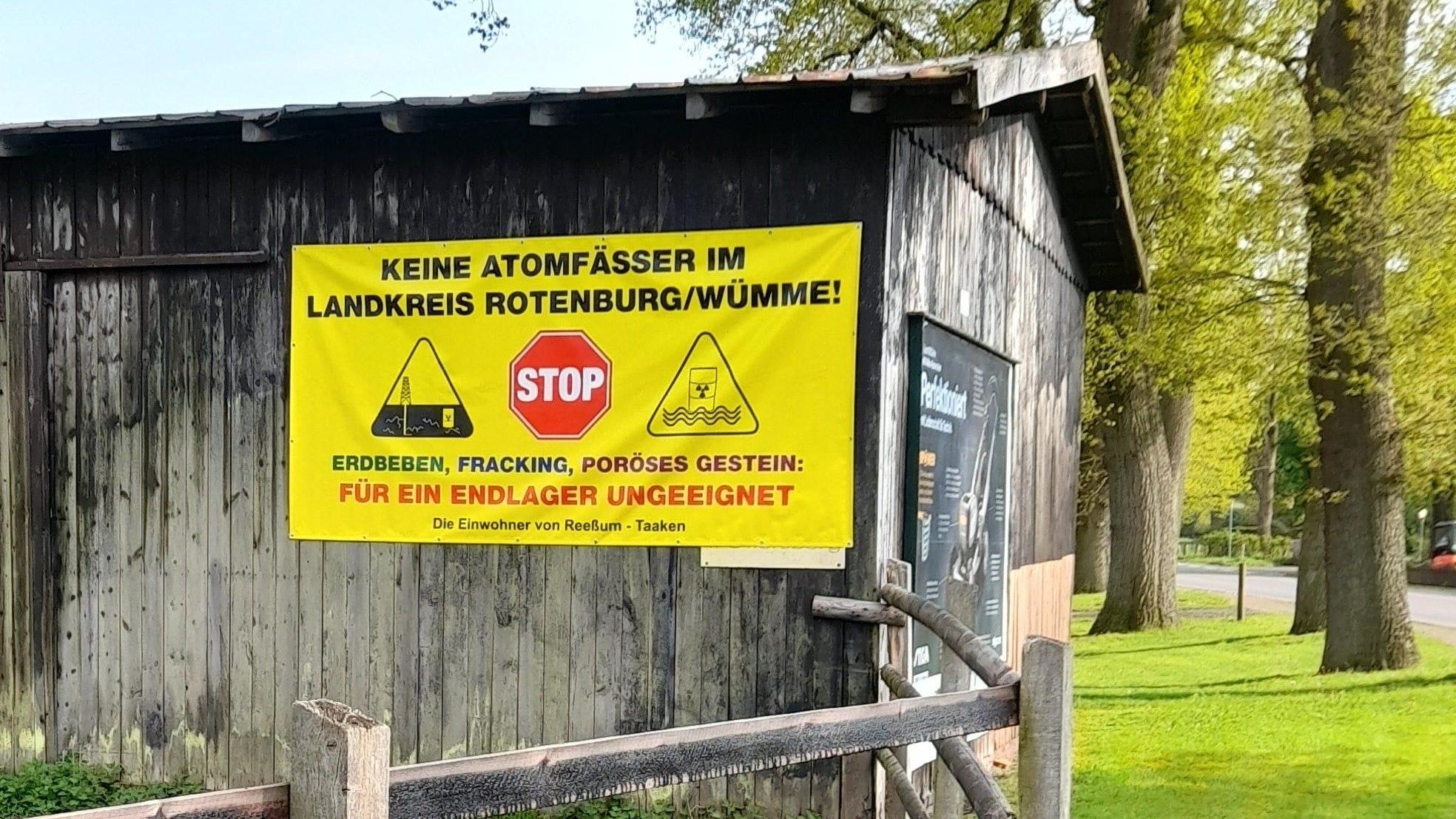 Andernorts in Niedersachsen - wie hier im Landkreis Rotenburg/Wümme - haben sich bereits Bürgerinitiativen gegen ein mögliches Atommüll-Endlager gegründet. Foto: BI Rotenburg