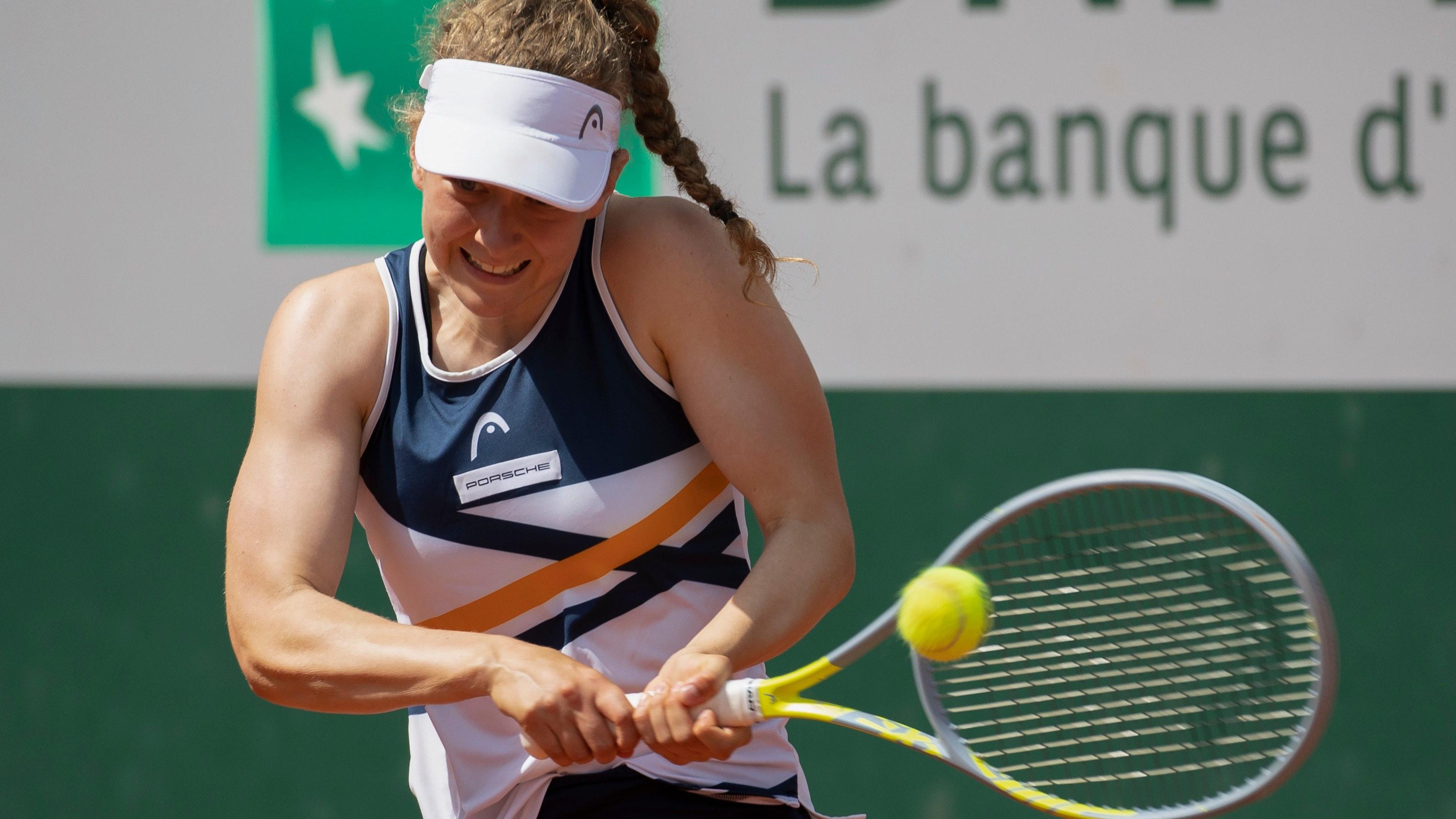 Countdown für Wimbledon läuft: Julia Middendorf, hier bei den French Open. Foto: Hasenkopf