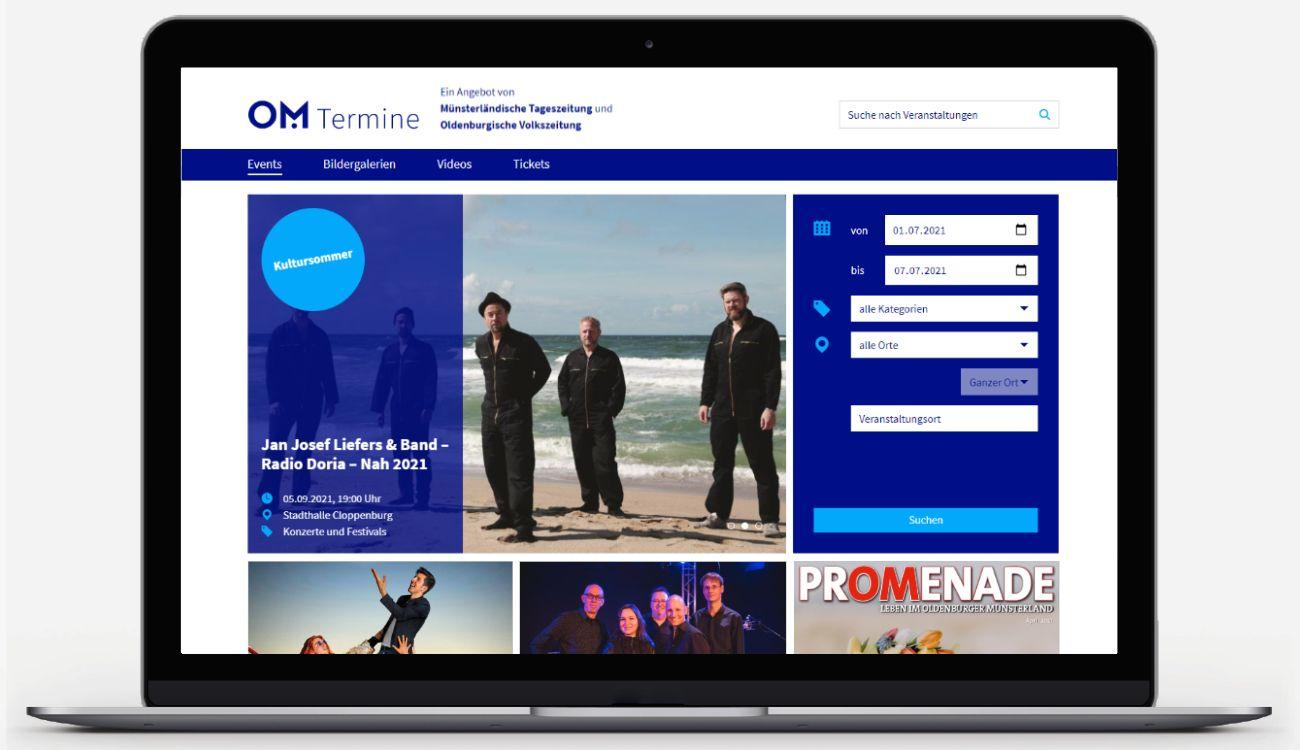 Suchen, finden mit Details: Mit om-termine.de lässt sich die Freizeit leicht organisieren. Nutzer können nach Zeit, Ort und Kategorie sortieren und auch über die Kreisgrenzen blicken.