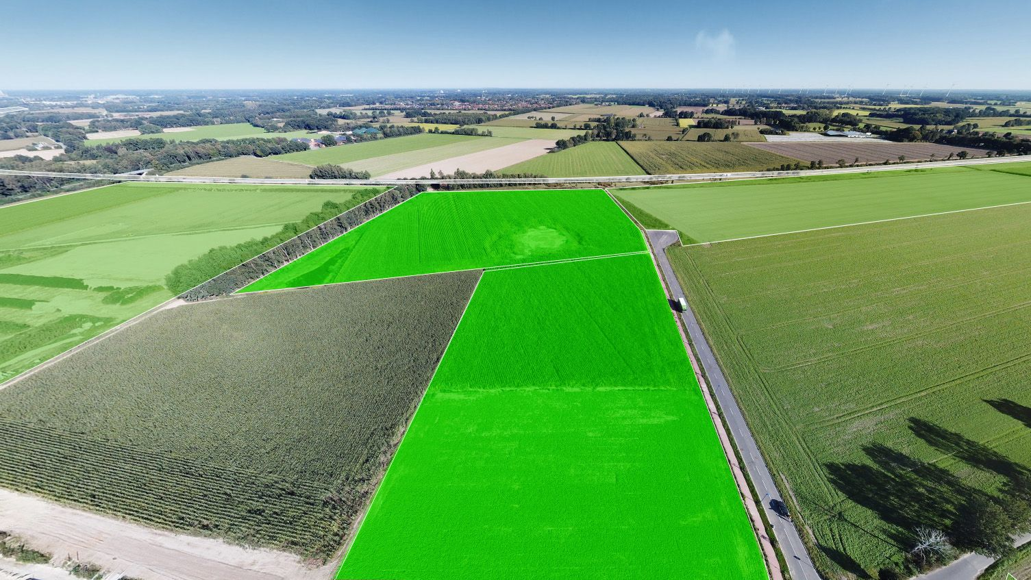 63.000 Quadratmeter an der E 233 hat die EWE Netz gekauft. Bilddatei: Ecopark