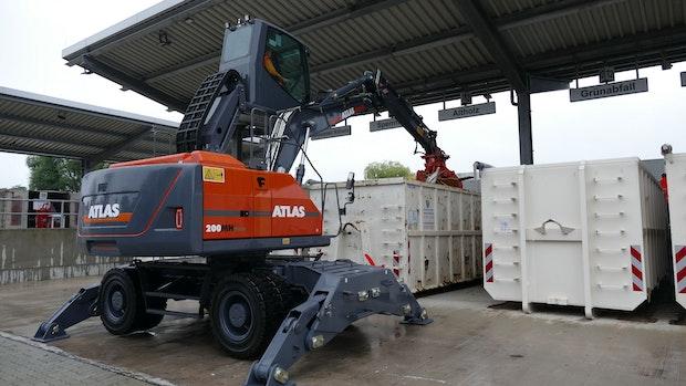 Die Atlas GmbH bringt erste elektrische Großbagger in den Einsatz