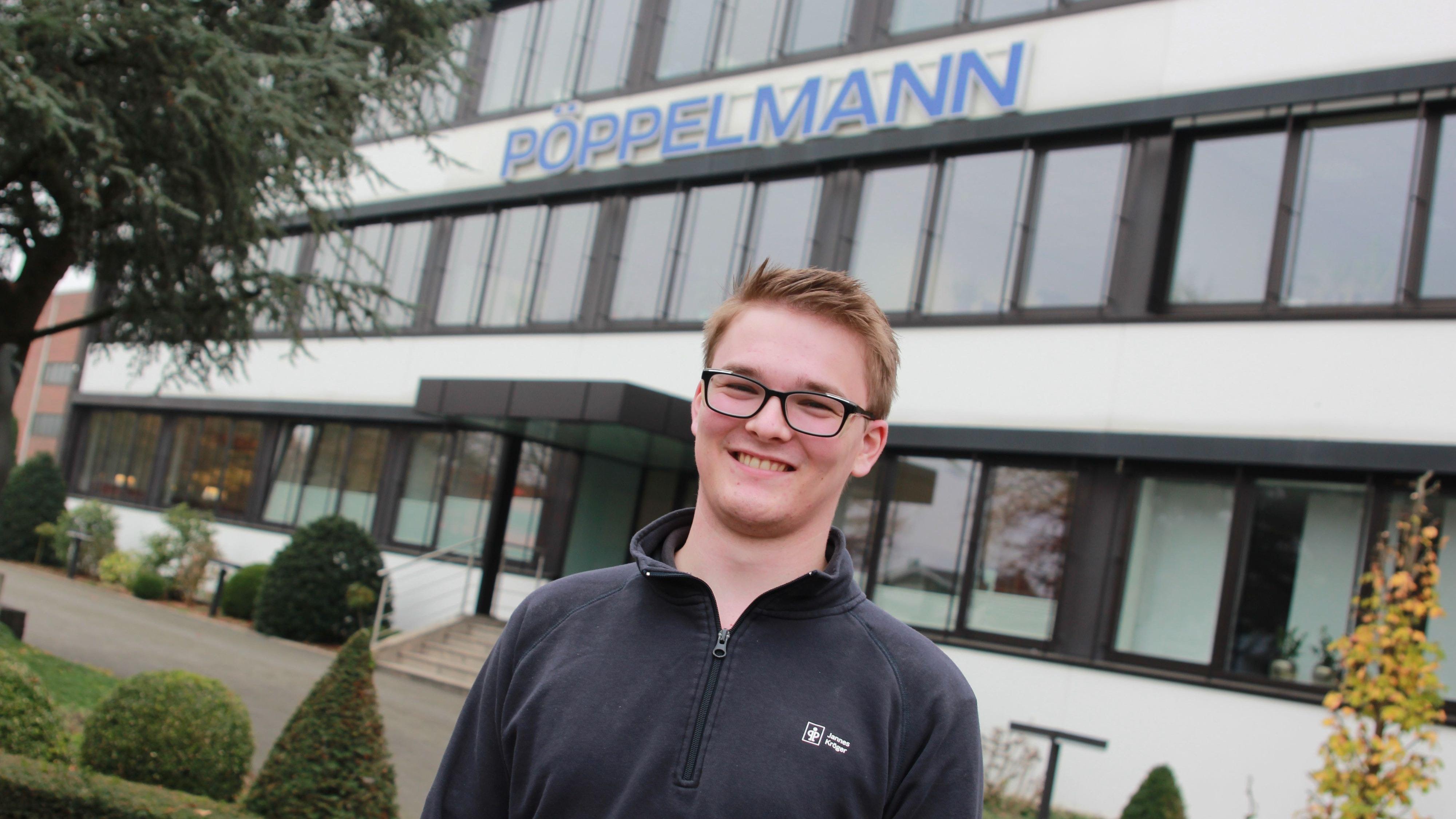 Einer der besten Verfahrensmechaniker in ganz Deutschland: Jannes Kröger absolvierte seine Ausbildung im Unternehmen Pöppelmann. Foto: Honkomp