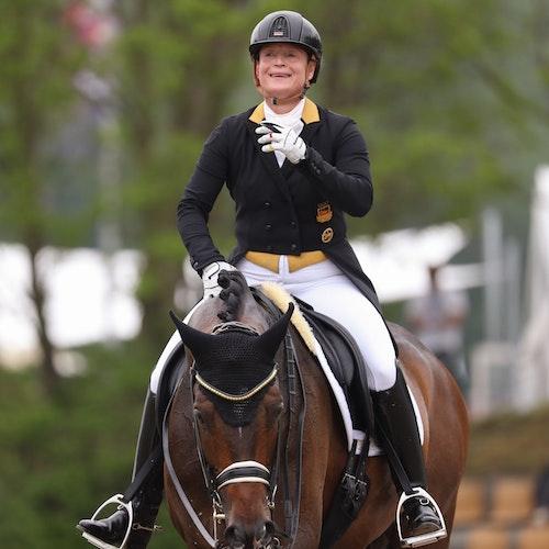 Medaillenbank: Isabell Werth, hier auf Quantaz bei der DM im Juni. Foto: dpaGentsch