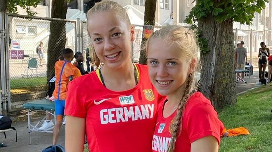 Getrennte Wege: Während Carolin Hinrichs (links) im Vorlauf ausschied, erreichte Ronja Funck das Finale. Foto: J. Hinrichs