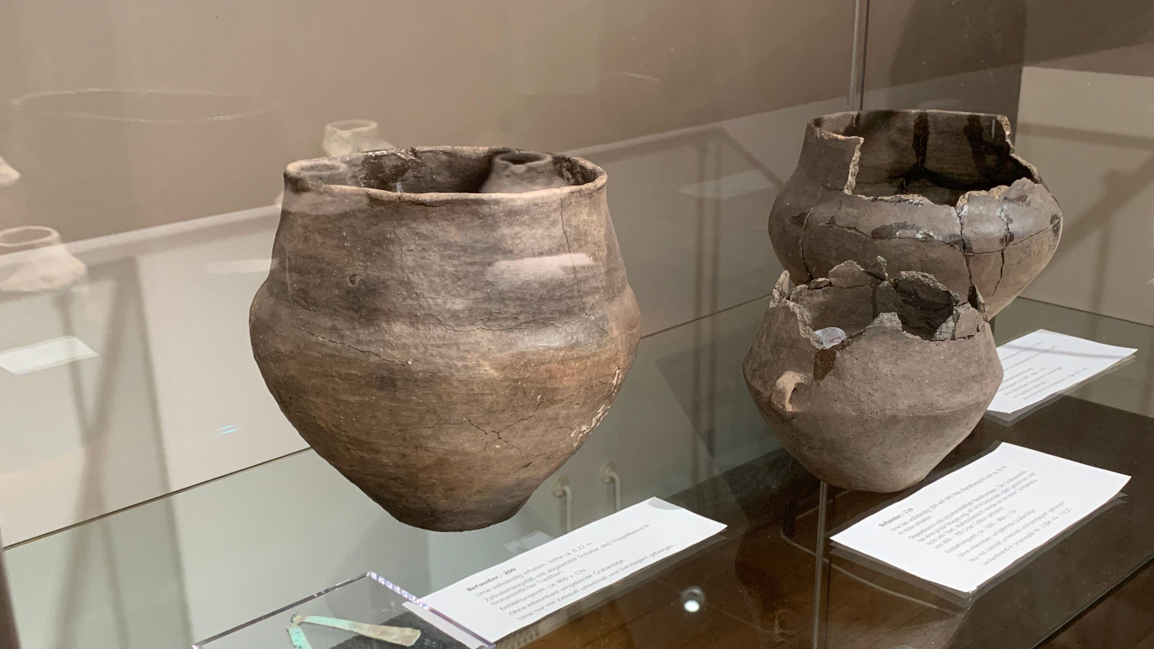 Fundstücke aus der Zeitvon 2200 bis 800 v. Chr. Foto:Stilkenböhmer