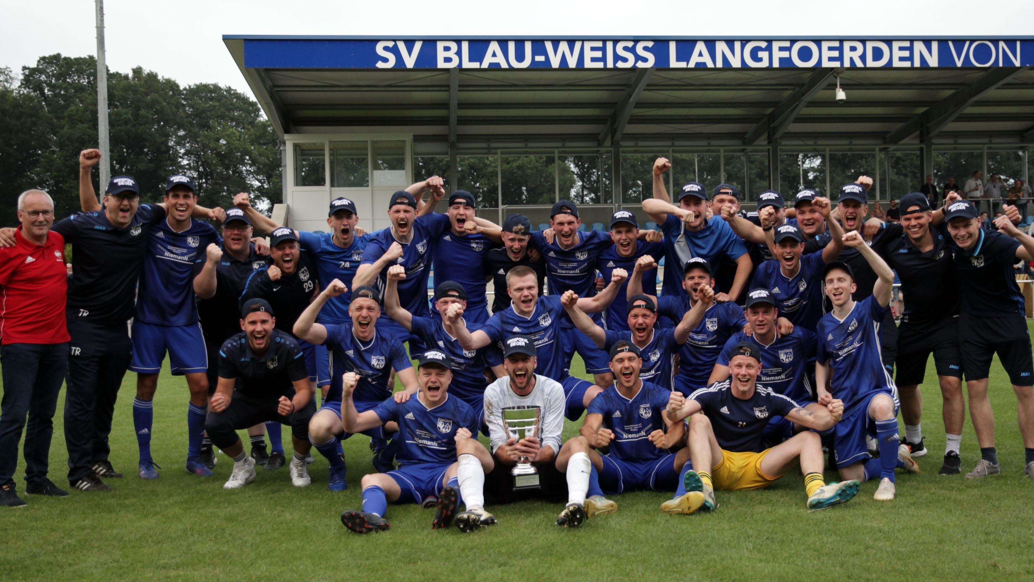 Kreispokalsieger 2020/21: BW Langförden. Foto: Schikora