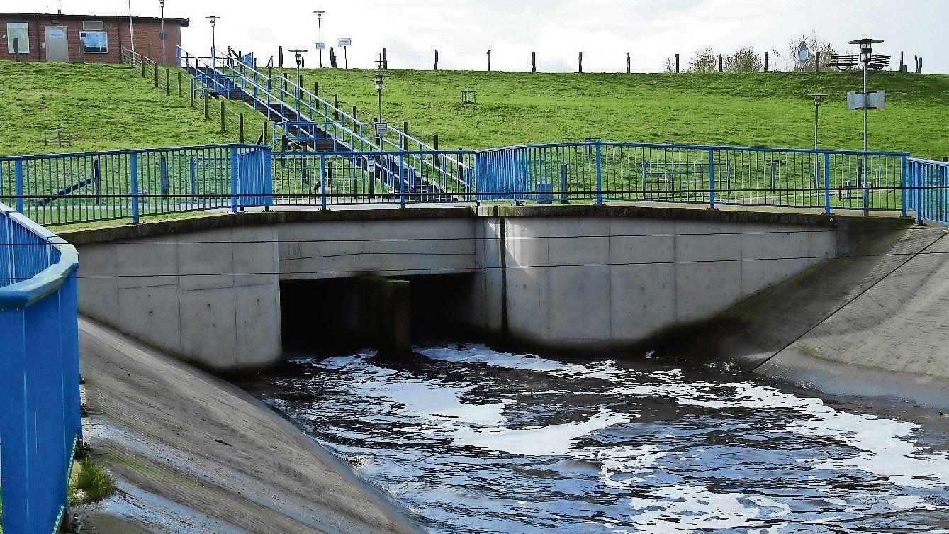 Die Deiche der Thülsfelder Talsperre schützen die tiefer gelegenen Ortschaften entlang der Soeste. Bis zu einem 100-jährigen Hochwasser kann der Abfluss reguliert werden. Foto: NLWKN