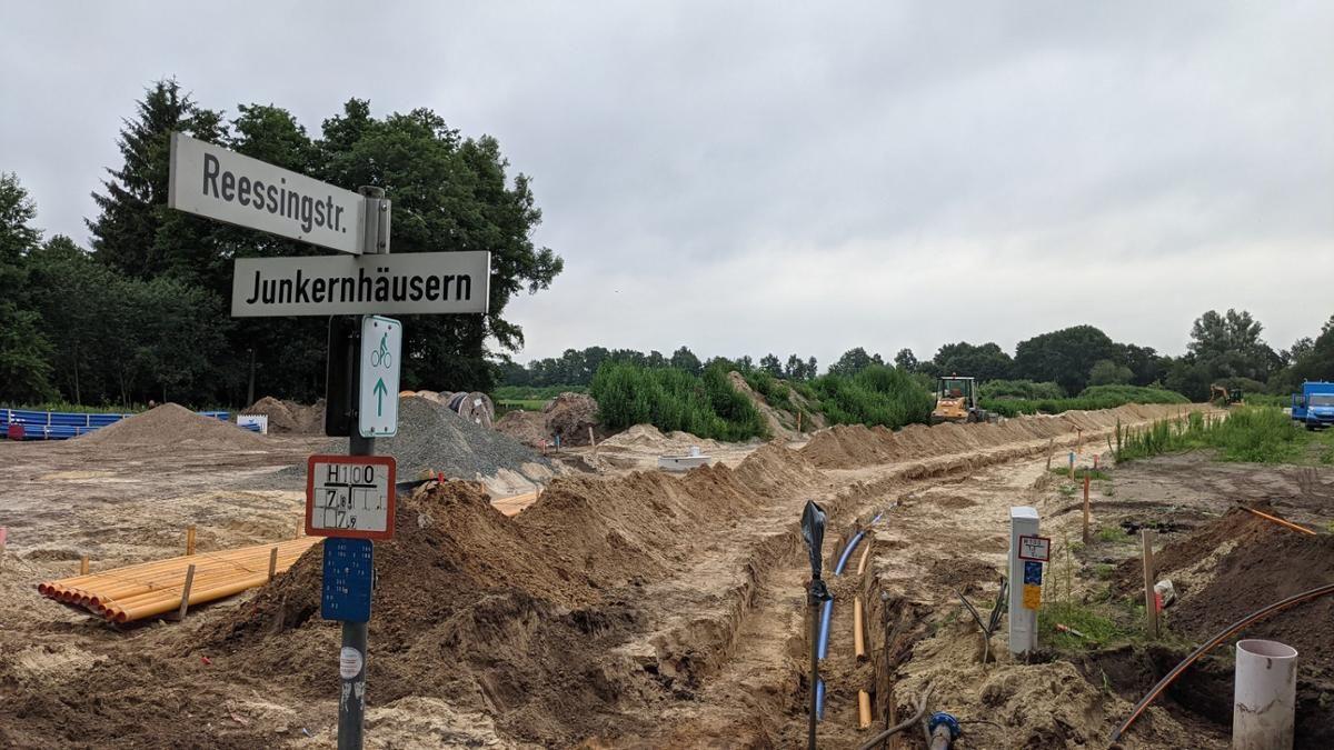 Hier wird gebaut: Im neuen Diepholzer Gewerbegebiet Reessingstraße sollen 200 neue Arbeitsplätze entstehen. Foto: Jansen