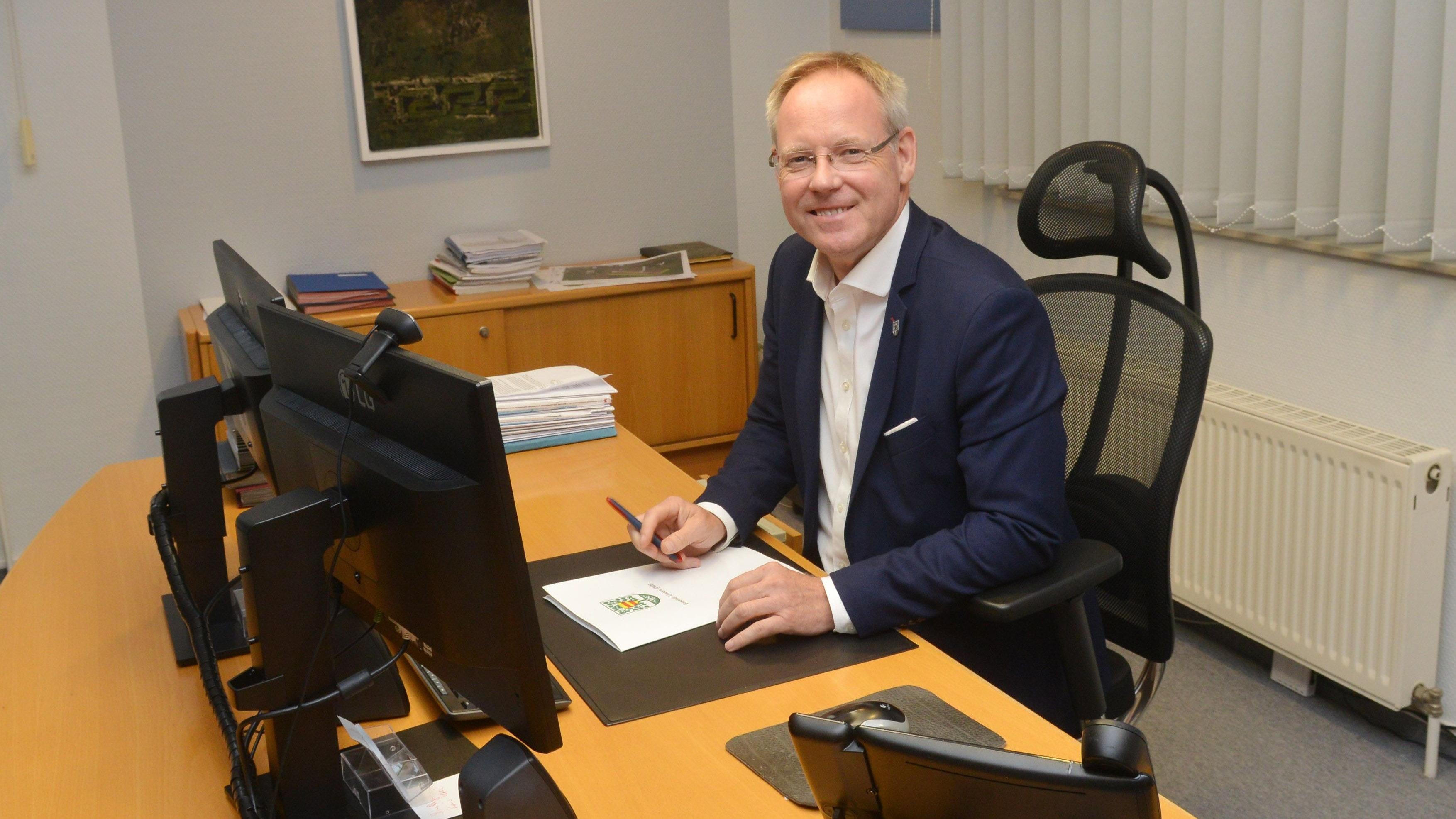Will seine Arbeit in Lindern fortsetzen: Karsten Hage stellt sich am 12. September zur Wiederwahl. Foto: Siemer