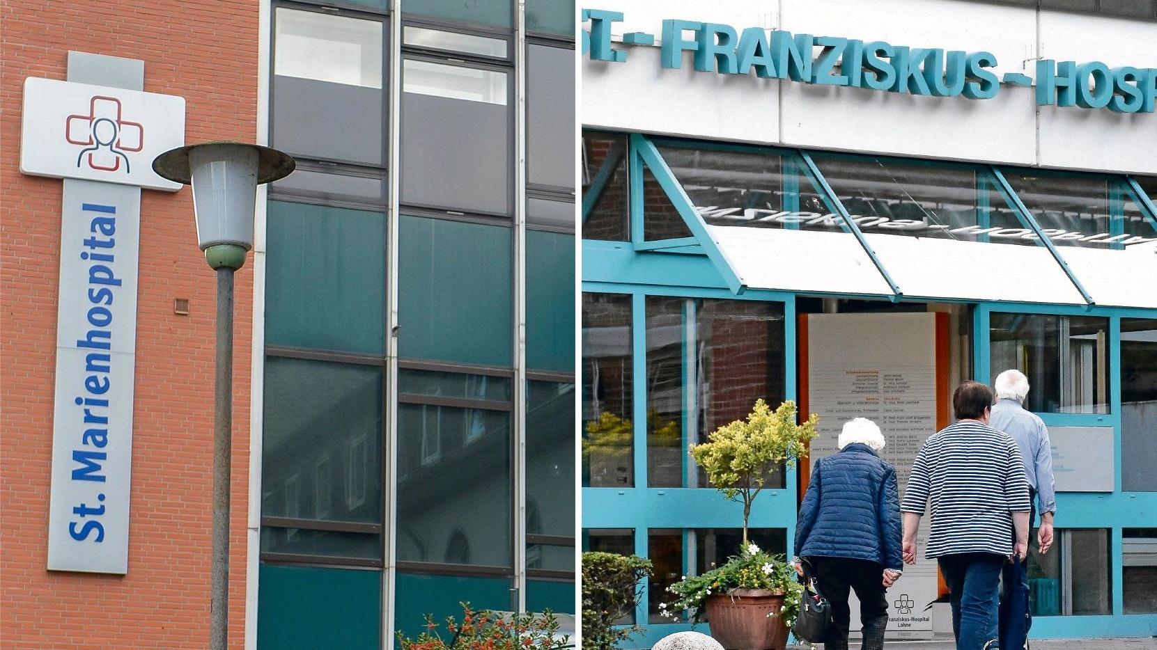 Aus 2 Häusern soll 1 werden – an einem neuen Standort: Um die Gesundheitsversorgung im Landkreis Vechta zukunftssicher aufzustellen, sollen die Kliniken in Vechta und Lohne fusionieren. Fotos: Chowanietz/Timphaus