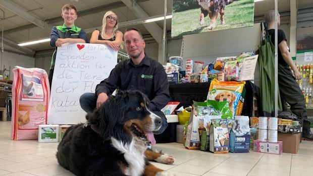 Spendenaktionen: Sogar ein Hund hilft den Tieren im Krisengebiet