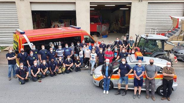 Feuerwehr Bakum unterstützt Hochwasseropfer