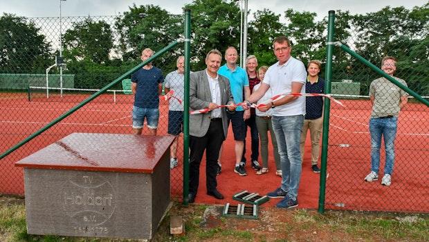 Neue Allwetterplätze beim Tennisverein Holdorf sind jetzt bespielbar