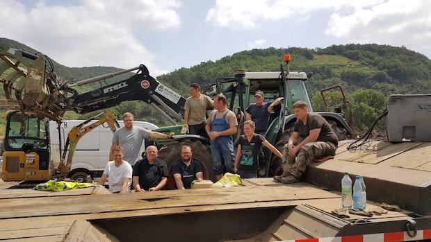 Helfer erleben große Dankbarkeit im Katastrophengebiet