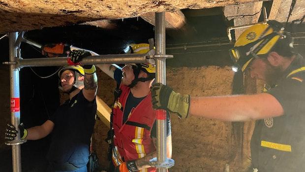 Helfer des THW Lohne sind in den Hochwassergebieten im Einsatz