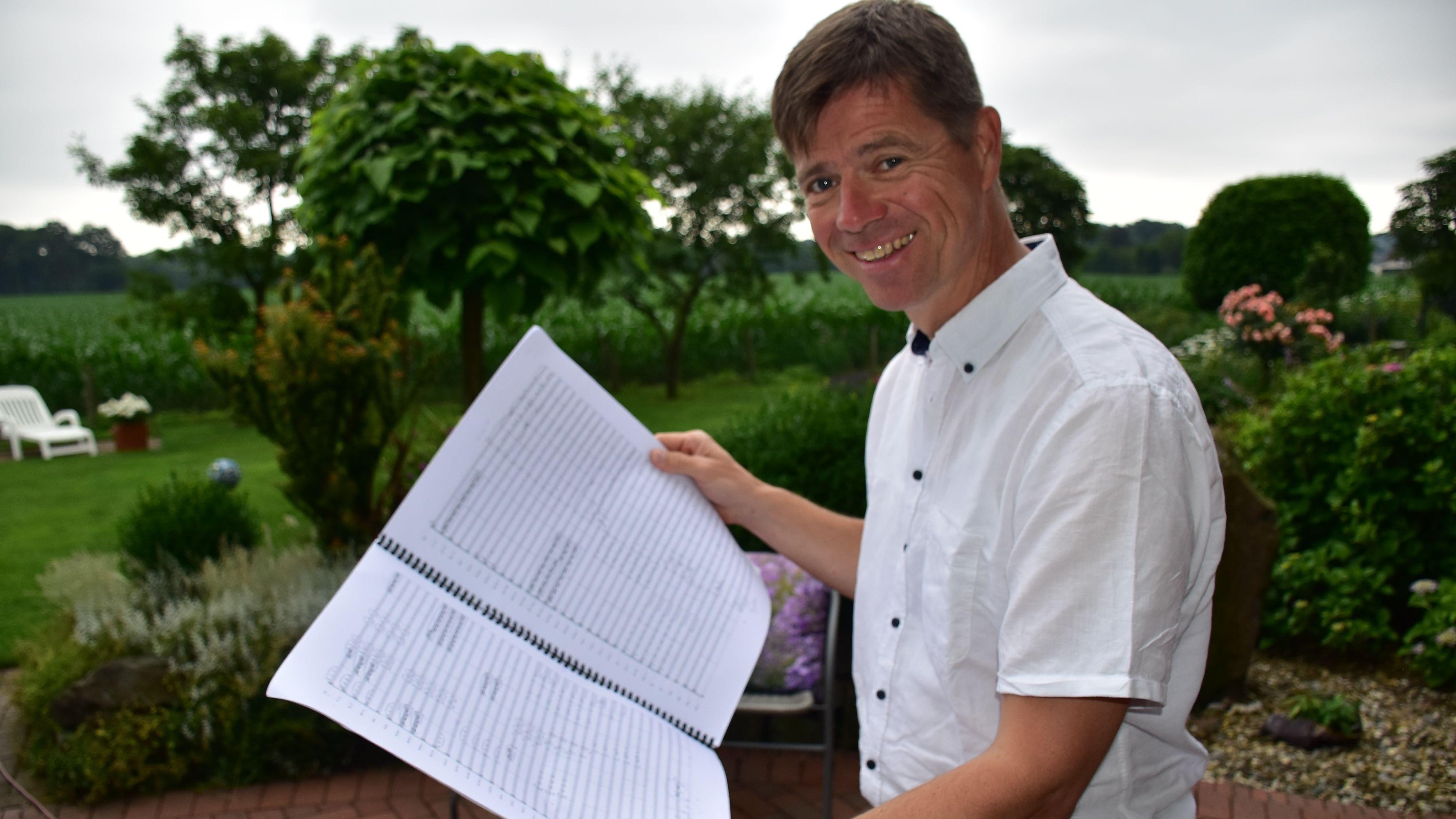 """Große Aufgabe: Heiko Maschmann möchte beim Start des Instrumentalmusikvereins Neuenkirchen am Samstag die Note """"Hervorragend"""" erspielen. Foto: Lammert"""