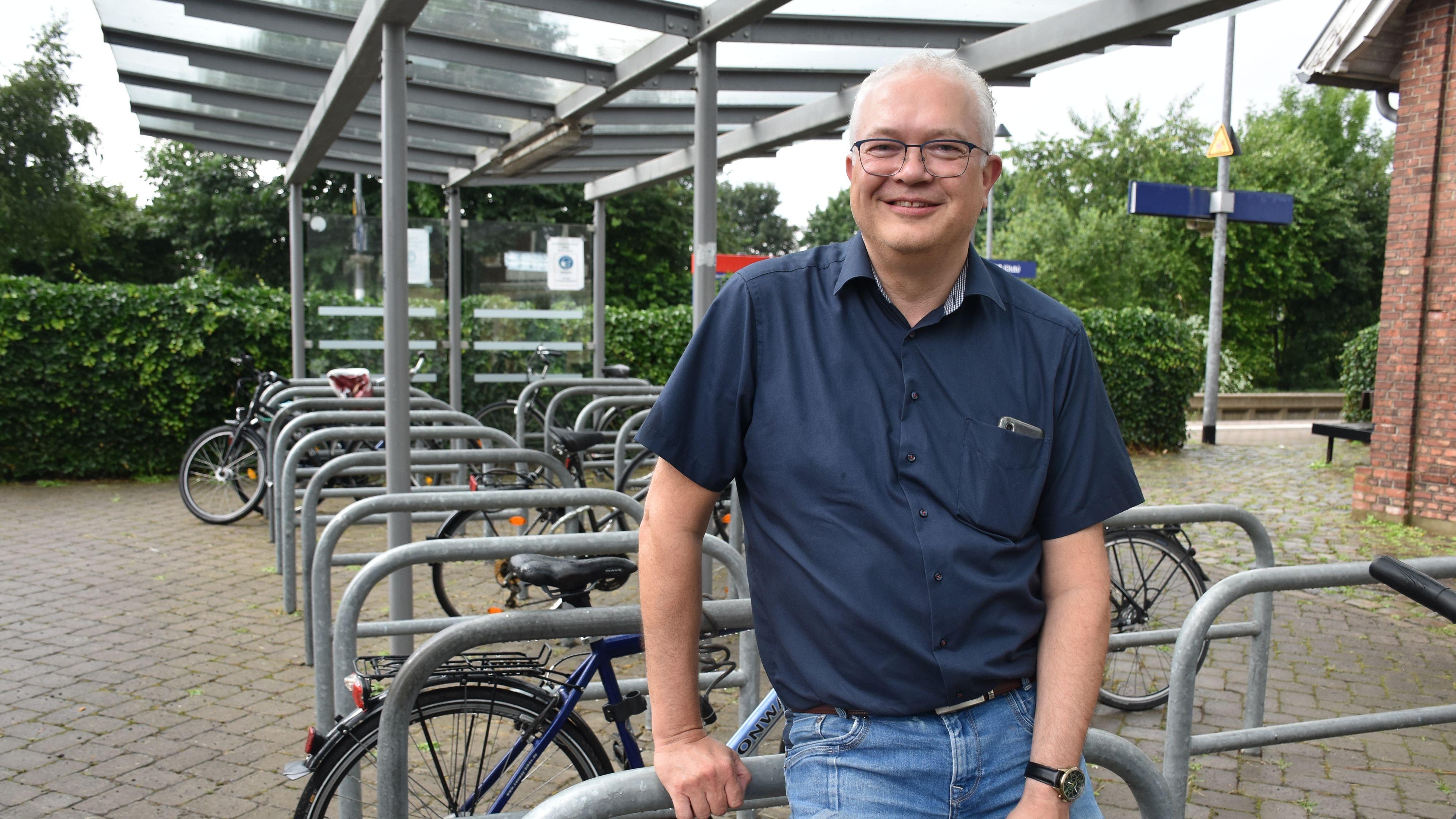 Mobilität als großes Thema für die nächste Amtszeit: Ansgar Brockmann bewirbt sich erneut für den Bürgermeisterposten. Foto: Lammert