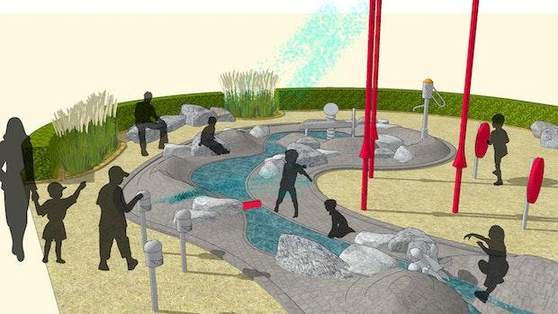 Bauausschuss stimmt für Wasserspielplatz
